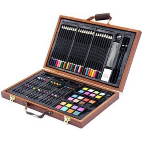 88-delige Tekenset - Houten koffer
