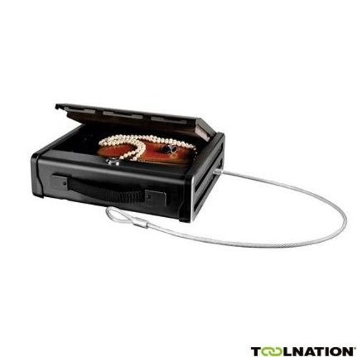 Compact safe with mounting cable