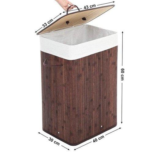 Bamboe wasmand - Donker bruin- 72L