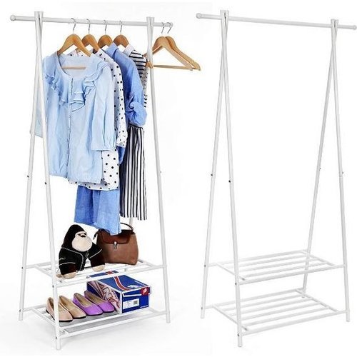 Metal clothingrack with 2 layers for shoes