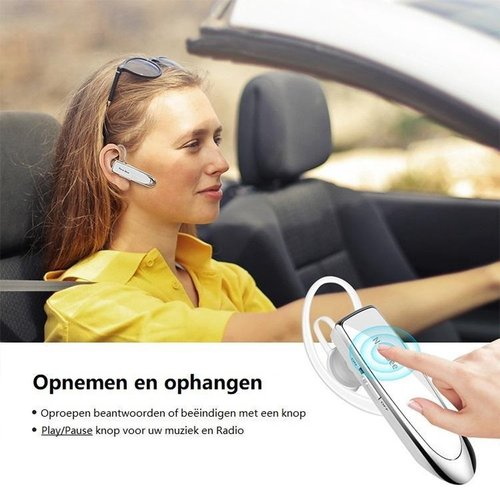 New Bee - Draadloze headset - Bluetooth 5.0 - Noise cancelling - Zilver