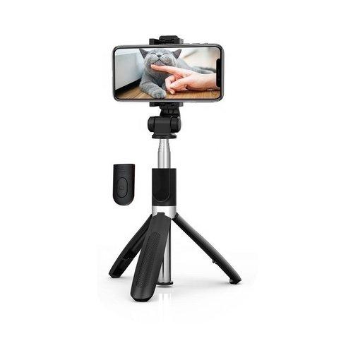 3-in-1 Selfie Stick - Tripod - Bluetooth - Zwart