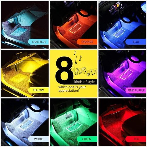 LED Lights - Car Interior - with Remote Control
