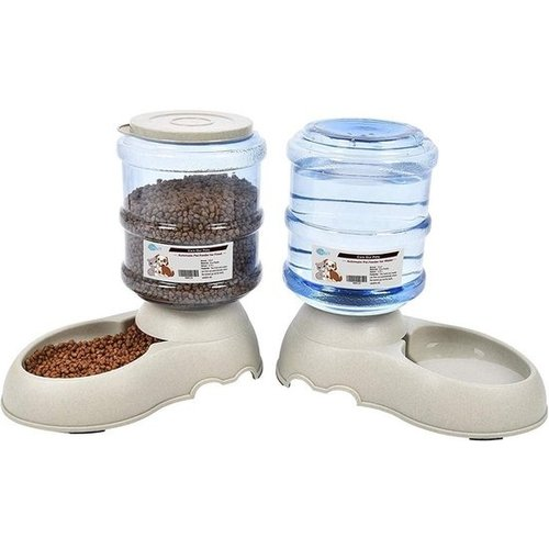 Automatic pet food and water dispenser - 2 pcs