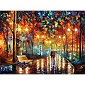 Parya Official - Painting by number - Walking in the rain