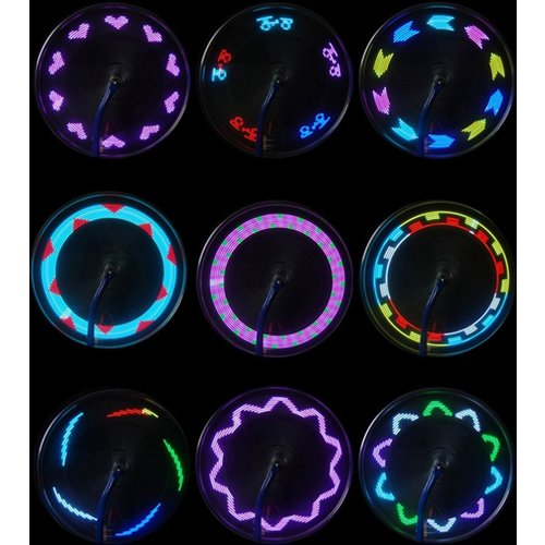 Parya Official - Kleurrijke LED spaakverlichting - 2x