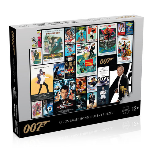 Winning Moves - James Bond Puzzle - 1000 pieces - All movie poster