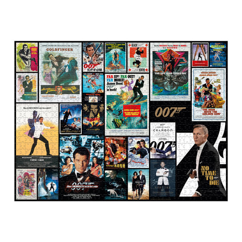Winning Moves Winning Moves - James Bond Puzzle - 1000 pieces - All movie poster