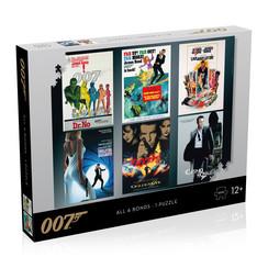 Winning Moves - James Bond Puzzel - 1000 stukjes - Alle Debuut Posters