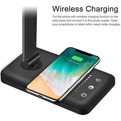 Parya Official - LED Desk Lamp - Wireless Charging For Phone