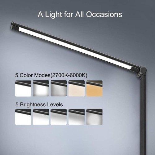 Parya Official - LED Bureaulamp - Draadloos Opladen Voor Telefoon