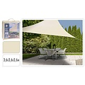 Ambiance - Shade cloth - Triangle - White & Sand - 3.6 x 3.6 x 3.6 M