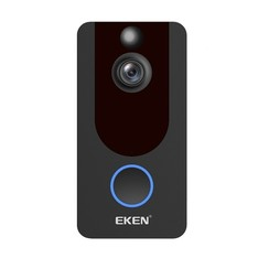 Eken V7 - Video Doorbell HD - Incl. Rechargeable Batteries + Gong