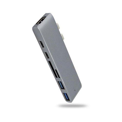 Parya Official - Pro Dock X USB C HUB - Docking Station - Grey