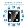 Parya Official - Digital Bathroom Scales - Bluetooth - Full Body Analysis - Black