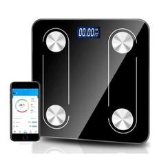 Parya Official - Digitale Personenweegschaal - Bluetooth - Volledige Lichaamsanalyse - Zwart
