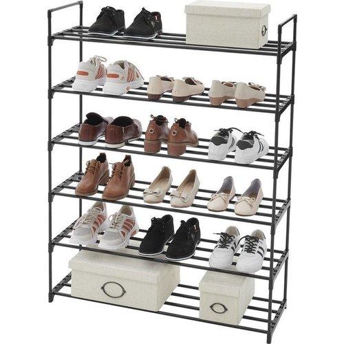 Parya Home - Praktisch Schoenenrek met 6 Lagen voor 24 Paar Schoenen