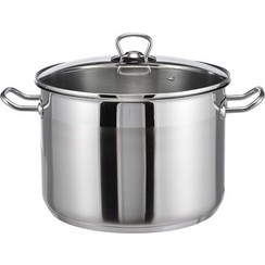 Stainless steel soup pan 10 litres with glass lid