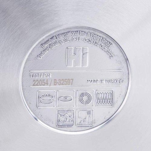 RVS Soeppan 10 liter met glazen deksel