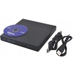 Plug & Play External CD/DVD Combo Drive Reader (Square)