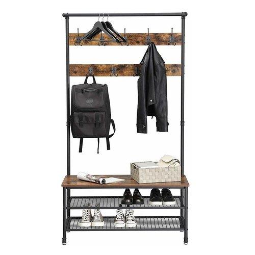 Parya Home - Wardrobe Rack With Coat Rack