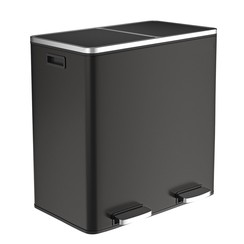 Parya Home - Trash Can With 2 Compartments - Black