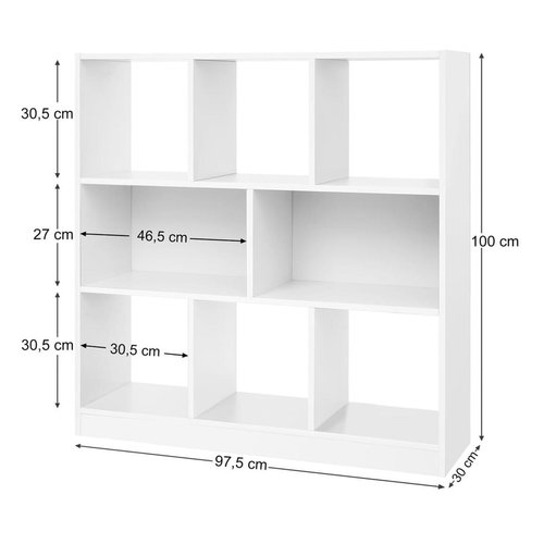 Parya Home - Bookcase - 8 compartments