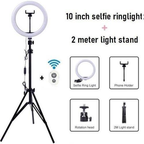 Ringlight Lamp with Tripod 70-200 cm