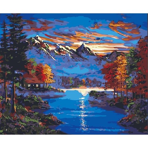 Painting on number - Landscape - Mountains