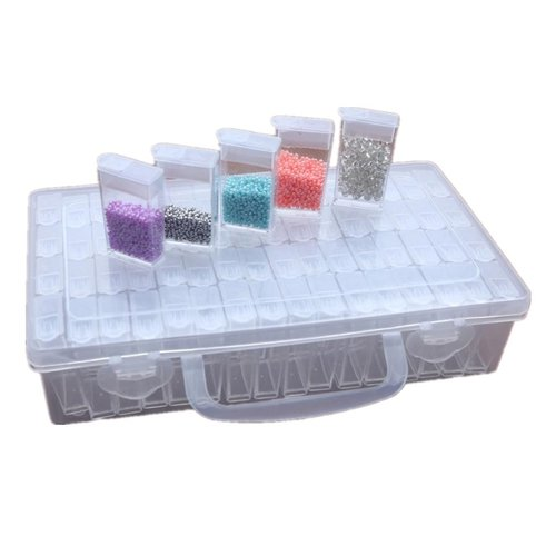 Parya Official - Storage box with 64 compartments - Diamond Painting - Incl. Sticker sheet