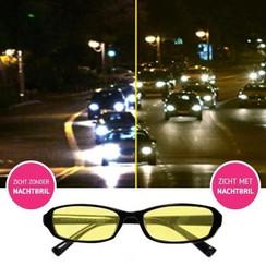 Night Vision Glasses - Yellow glasses - Black