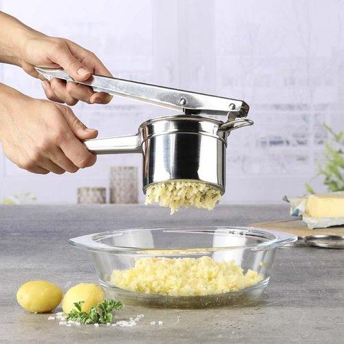 Haushalt potato press with 3 cutting blades