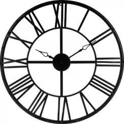 Stylish Large Black Metal Clock