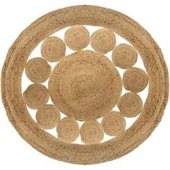 Openwork Jute rug - Round - In 2 sizes.