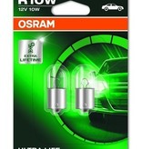 Lampe à incandescence Osram Ultralife 12v 10w Ba15s