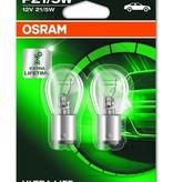 Lampe à incandescence Osram Ultralife 12v 21/5w Bay15s