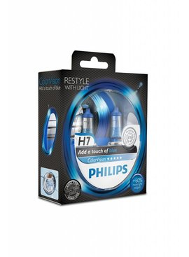 Philips H7 ColorVision Bleu Blister double
