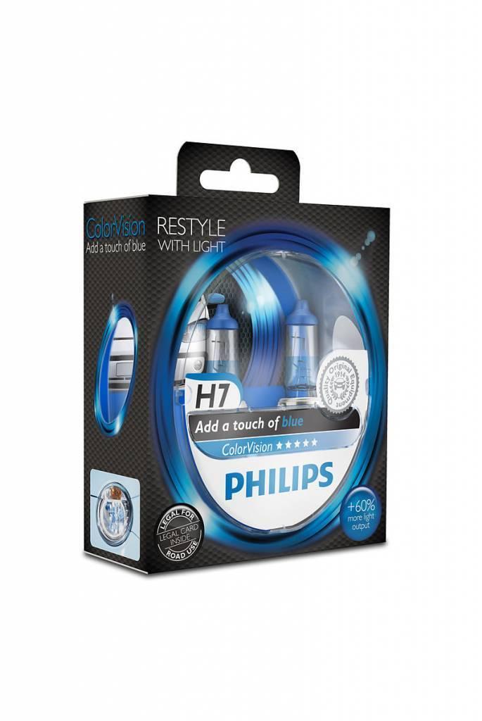 Philips H7 ColorVision Blauw Duobox