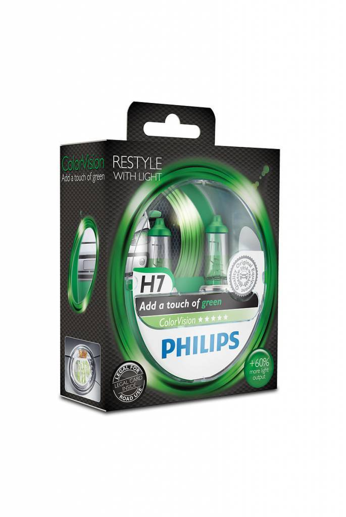 Philips H7 ColorVision Vert Blister double