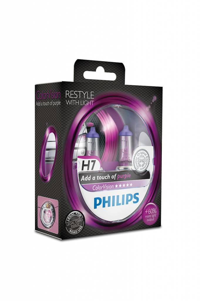 Philips H7 Colorvision Violet Blister double