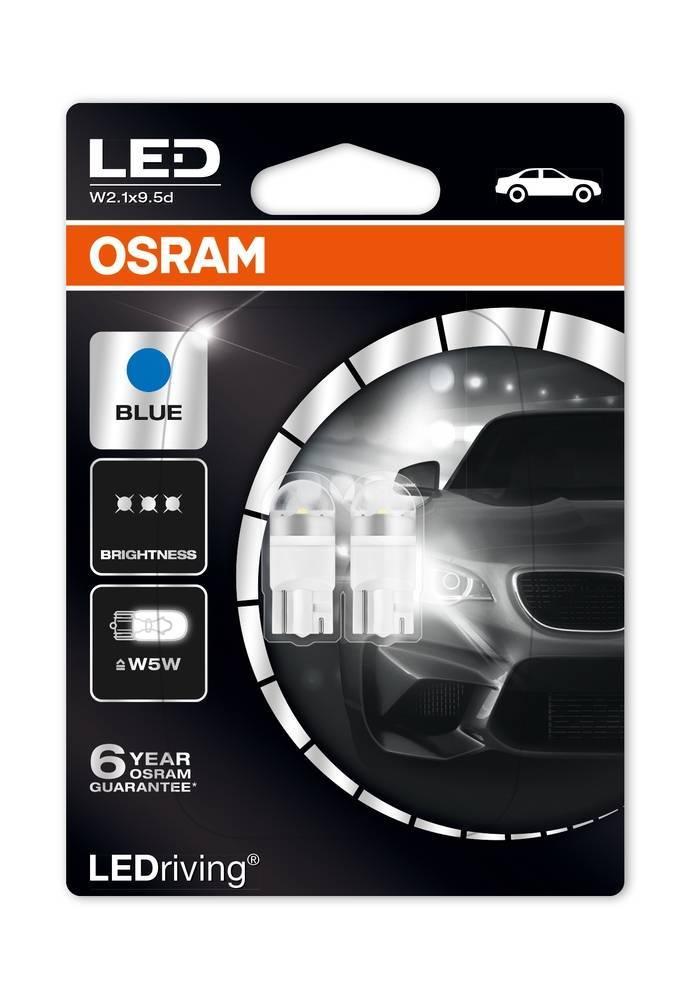 Osram Ledriving Premium W5W 6800k Blue