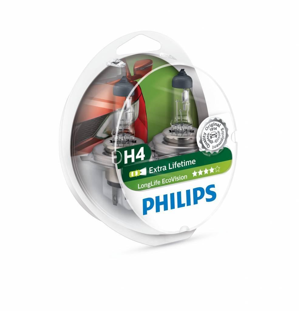 Philips H4 Longlife EcoVision Duobox