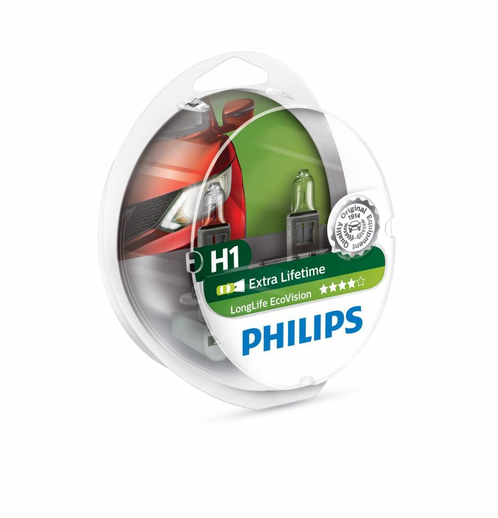 Philips H1 Longlife EcoVision blister double