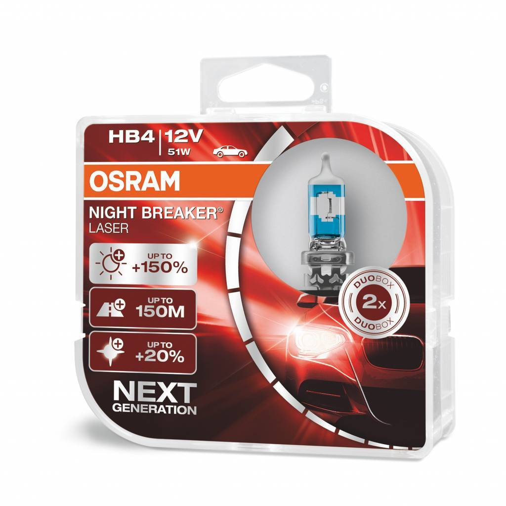 Osram 9006/HB4 Nightbreaker laser Double
