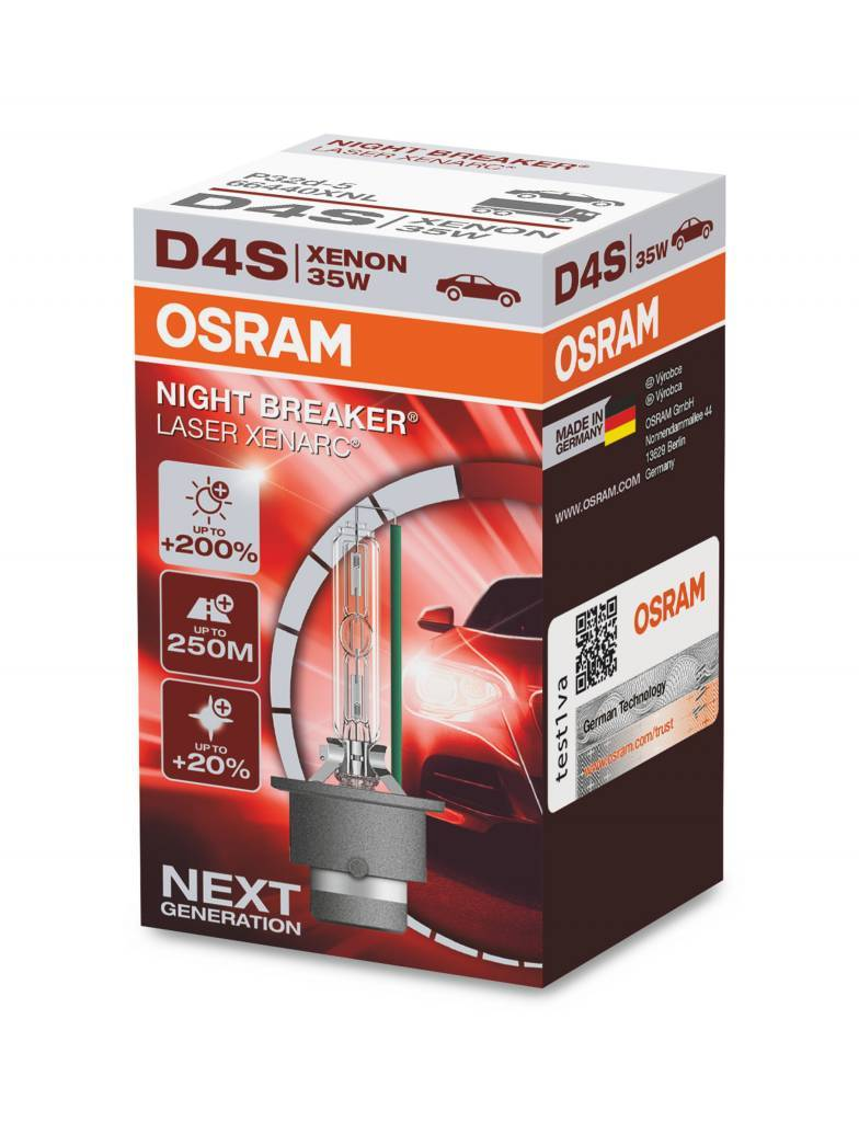 Osram Xenon Night Breaker Laser D4S Single