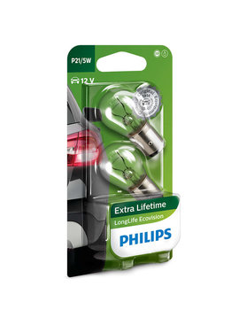 Philips Longlife Ecovision gloeilamp 12v 21/5w Bay15d