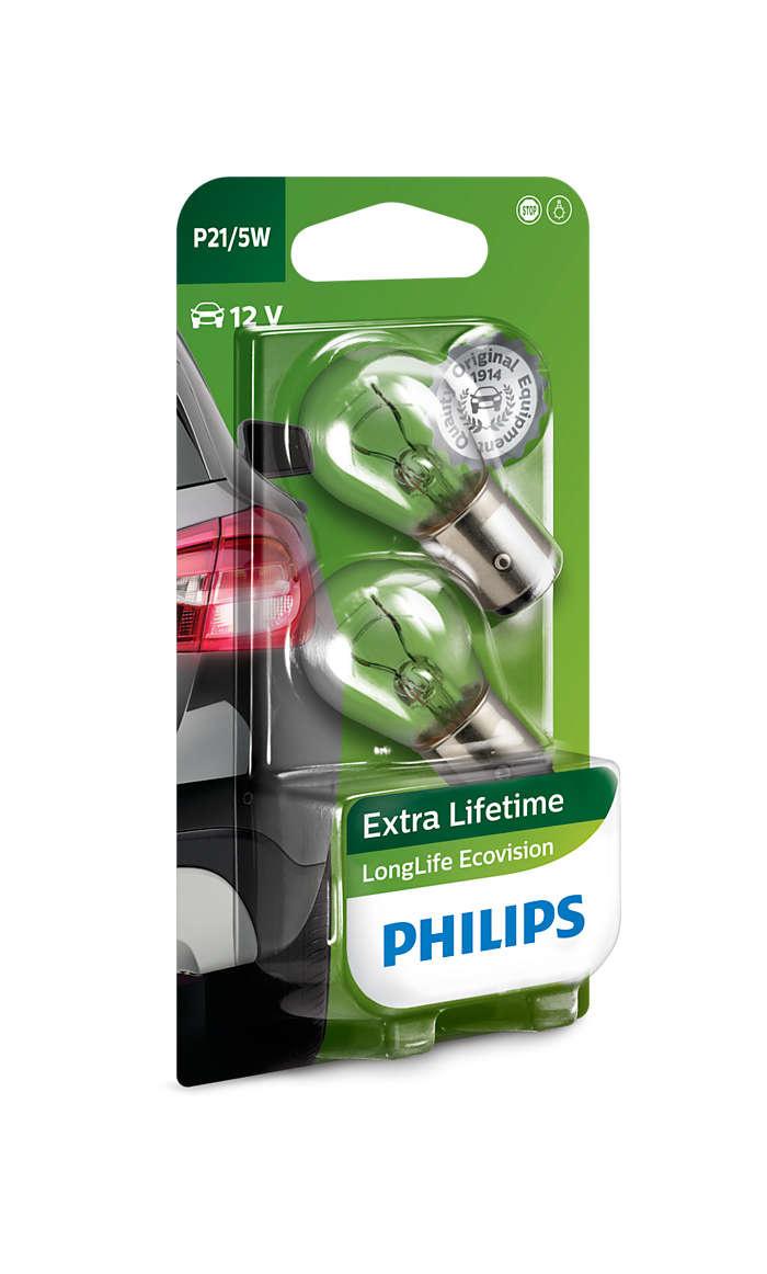 Philips Longlife Ecovision gloeilamp 12v 21w  Ba15s