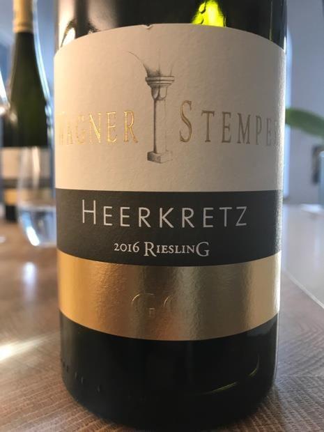 Wagner-Stempel HEERKRETZ Riesling Grosses Gewächs 2016