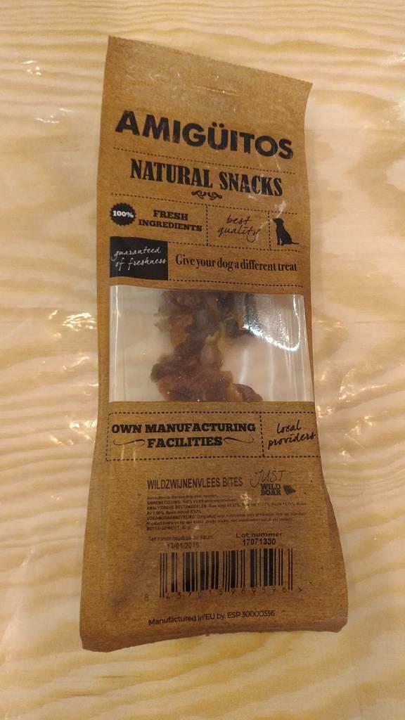 Amiguitos NATURAL SNACKS Wild Boar Bites 80 gr.