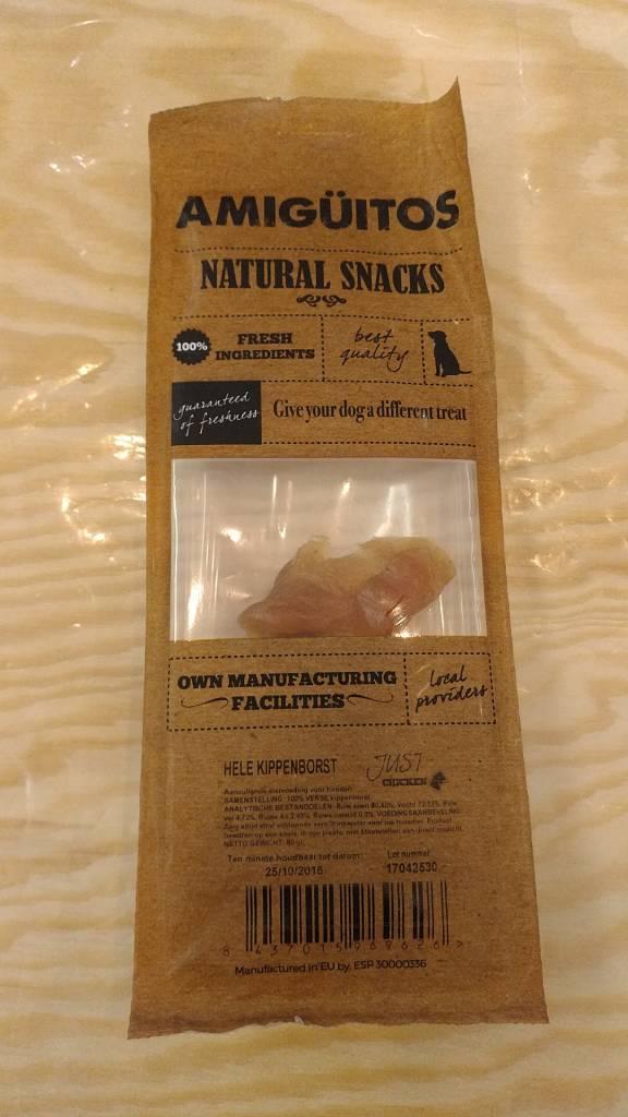 Amiguitos NATURAL SNACKS Whole Chicken Breast 80 gr.